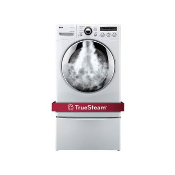 LG DLEX2650 7.3 Cu. Ft. Ultra Large Capacity Electric SteamDryer (White, DLEX2650W)