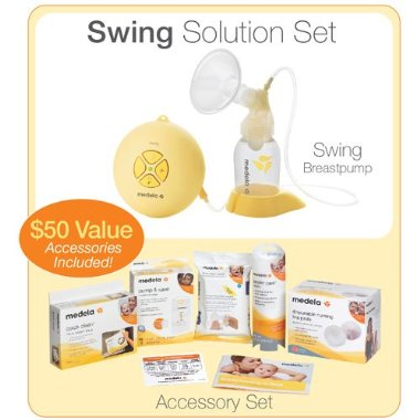 Medela Swing Solution Set Breast Pump with Accessories