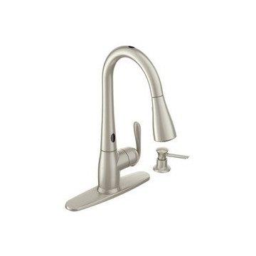 Moen Haysfield 87350ESRS Pulldown Kitchen Faucet with MotionSense ...