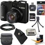 Canon PowerShot G16 12.1MP Digital Camera Ultimate Bundle with 32GB Memory Card, Digpro Deluxe Case, Extra Battery, Card Reader, Tripod, Card Wallet, HDMI Cable, Screen Pro