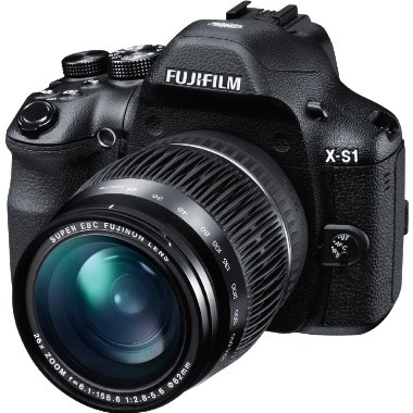 Fujifilm X-S1 12MP EXR CMOS Digital Camera with f2.8-5.6 Telephoto Lens and 26x Manual Zoom (24-624mm)