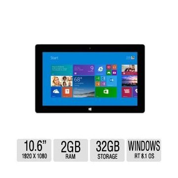 Microsoft Surface 2 Tablet (32GB, Windows RT)