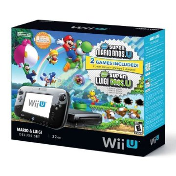 Nintendo Wii U Deluxe Set with Mario & Luigi (includes New Super Mario Bros U and New Super Luigi U)