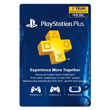PlayStation Plus 1-Year Membership for PS3/ PS4/ PS Vita [Digital Code]