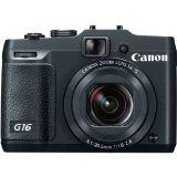 Canon PowerShot G16 12.1MP CMOS Digital Camera with 5x Zoom and 1080p Full-HD Video