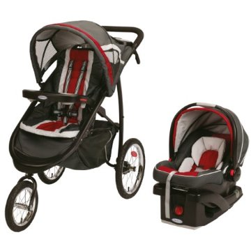 Graco FastAction Fold Click Connect Jogger Travel System (Chili Red)