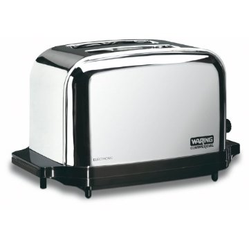 Waring Commercial WCT702 Wide 2-Slice Light Duty Toaster (Chrome Plated Steel)