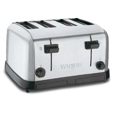 Waring WCT708 4-Slot Commercial NSF Certified Toaster (Brushed Chrome Steel)