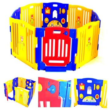 Baby Playpen Kids 8 Panel Indoor/Outdoor Playard