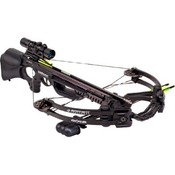 Barnett Ghost 410 CRT Crossbow Package with 3 Arrows, Quiver, 3x32 Illuminated Scope