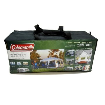 Coleman Weathermaster II Screened 10 Person Tent with Hinged Door