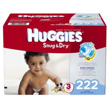 Huggies Snug and Dry Diapers Economy Plus Pack (Size 3, Pack of 222)