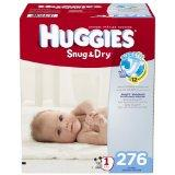 Huggies Snug and Dry Diapers Economy Plus Pack (Size 1, Pack of 276)