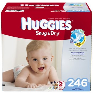 Huggies Snug & Dry Diapers Economy Plus Pack (Size 2, Pack of 246)