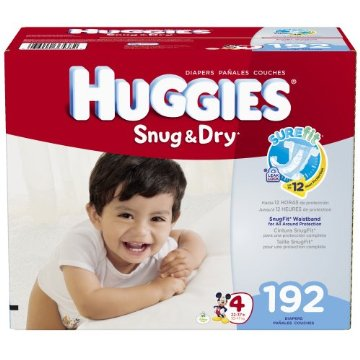 Huggies Snug & Dry Diapers Economy Plus Pack (Size 4, Pack of 192)