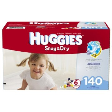 Huggies Snug & Dry Diapers Economy Plus Pack (Size 6, Pack of 140)