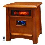Lifesmart Ultimate 8 Element 1800 Square Foot Infrared Heater w/ Air Ionizer System and Remote (LS-8WIQH-LB)