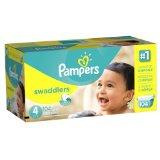 Pampers Swaddlers Diapers Economy Pack Plus (Size 4,  22-37lbs, Pack of 104)
