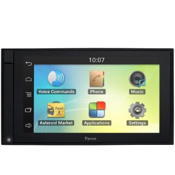 Parrot Asteroid SMART 6.2 Digital Media Receiver with Navigation, Apps, Multimedia and Hands-Free Bluetooth