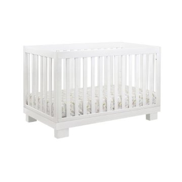 Babyletto Modo 3-in-1 Convertible Crib with Toddler Rail (White)