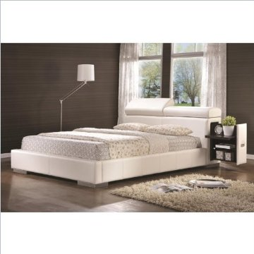 Coaster Maxine Upholstered Bed with Pullout Drawer (King)