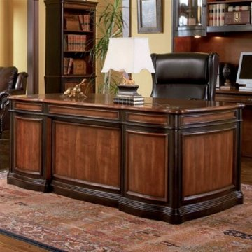 Coaster Pergola Double Pedestal Desk with Felt Lined Drawers