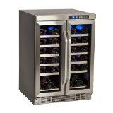 EdgeStar 36-Bottle Built-In Dual-Zone French-Door Wine Refrigerator