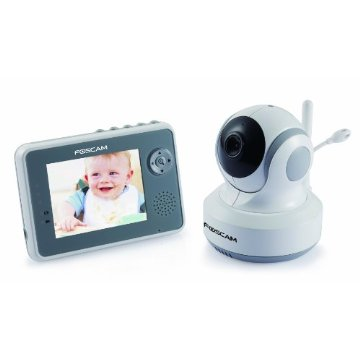 Foscam FBM3501 Color Video Baby Monitor with Night Vision, Pan/Tilt, 2-way Audio