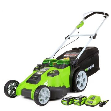 "Greenworks 20"" Twin Force G-MAX 40V Li-Ion Cordless Mower (25302)"