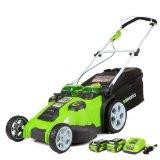 Greenworks 20 Twin Force G-MAX 40V Li-Ion Cordless Mower (25302)