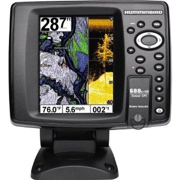 Humminbird 688ci HD DI Internal GPS/Sonar Combo Fishfinder with Down Imaging (409460-1)