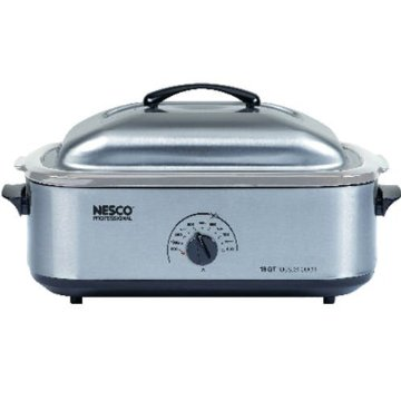 Nesco Professional 18qt Stainless Steel Roaster Oven with Stainless Steel Cookwell (4818-25-20)