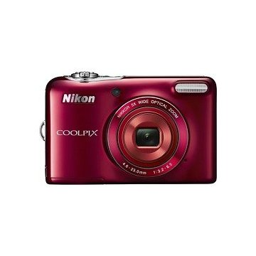 Nikon Coolpix L30 20.1MP Digital Camera with 5x Zoom  and 720p HD Video (Red)