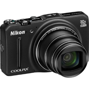 Nikon Coolpix S9700 16MP Wi-Fi Digital Camera with 30x Zoom, GPS, and Full HD 1080p Video (Black)