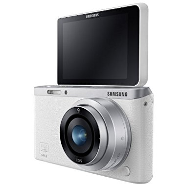 Samsung NX Mini 20.5MP CMOS Smart WiFi & NFC Compact Interchangeable Lens Digital Camera with 9mm Lens and 3 Flip Up LCD Touch Screen (White)