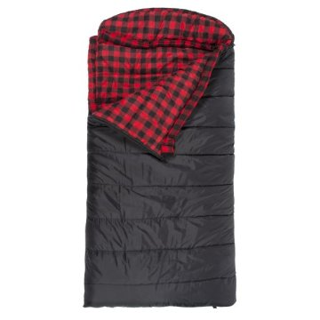 Teton Sports Celsius XXL -18 Degree C / 0 Degree F Flannel Lined Sleeping Bag (90x 39, Black, Right Zip)
