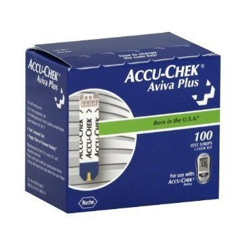 Accu-Chek Aviva Plus Blood Glucose Test Strips (Box of 100)