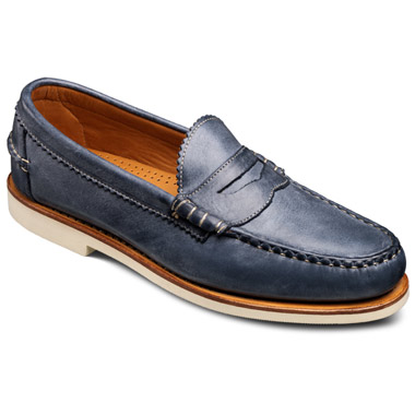 Allen-Edmonds Sands Penny Loafers (Soft Navy Leather)