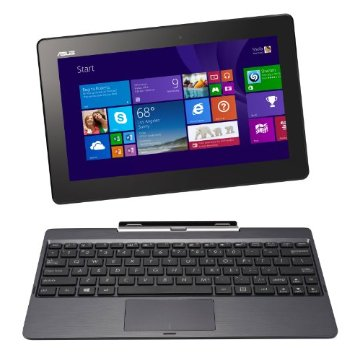 Asus Transformer Book T100TA-H2-GR 10.1 64GB Detachable 2-in-1 Touchscreen Laptop with 500GB Keyboard Dock