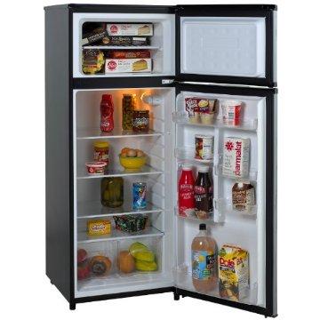 Avanti RA7316PST 2-Door 7.4 cu. ft. Apartment Size Refrigerator, Black with Platinum Finish