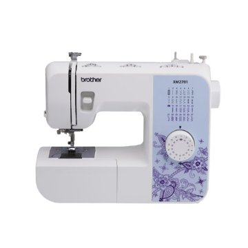 Brother XM2701 27-Stitch Sewing Machine with 1-Step Auto-Size Buttonholer, 6 Sewing Feet, and Instructional DVD