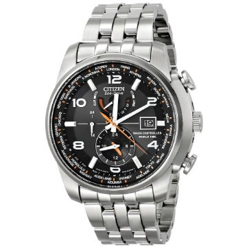Citizen AT9010-52E World Time A-T Stainless Steel Eco-Drive Men's Watch