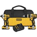 DeWalt DCK286D2 20V Max XR Brushless Compact Hammerdrill and Impact Driver Combo Kit