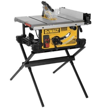 DeWalt DWE7490X 10 JobSite Table Saw with Scissor Stand