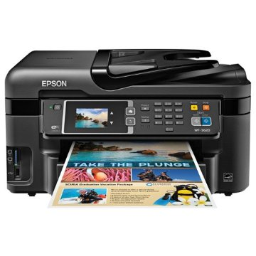 Epson WorkForce WF-3620 Wireless and WiFi Direct All-in-One Color Inkjet Printer, Copier, Scanner, 2-Sided Auto Duplex, ADF, Fax