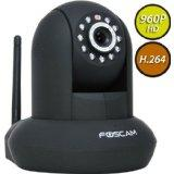 Foscam FI9831W H.264 Wireless/Wired Pan/Tilt IP Camera with Night Vision(Black)
