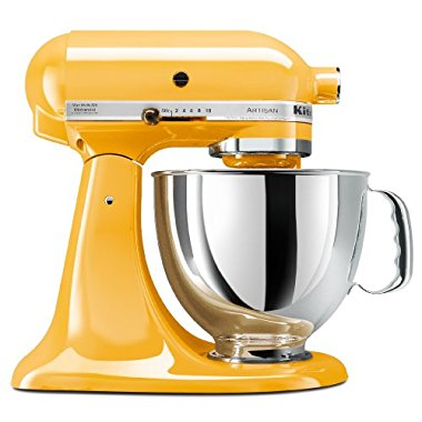 KitchenAid KSM150PSBF Artisan 5-Quart Stand Mixer (Buttercup)