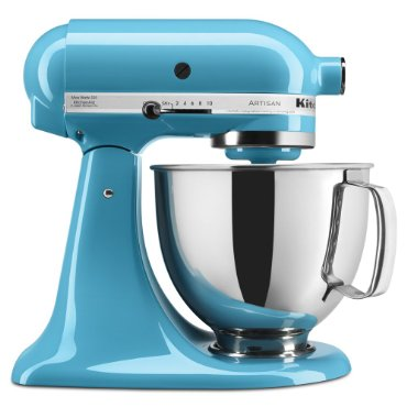 KitchenAid KSM150PSCL Artisan Series 5-Quart Mixer (Crystal Blue)