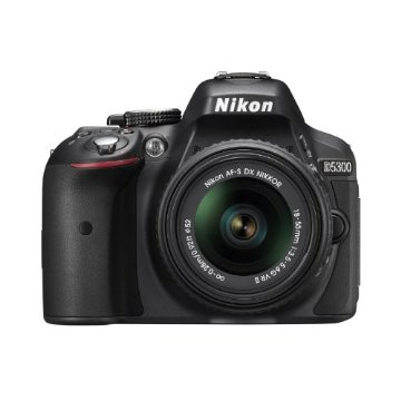 Nikon D5300 24.2MP CMOS Digital SLR Camera with 18-55mm f/3.5-5.6G ED VR II AF-S DX Lens