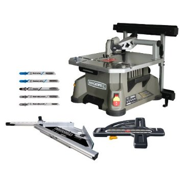 Rockwell RK7322 BladeRunner Combo Kit with Wall Mount, Rip Fence, Jigsaw Blades, Circle Cutter, Picture Frame Cutter